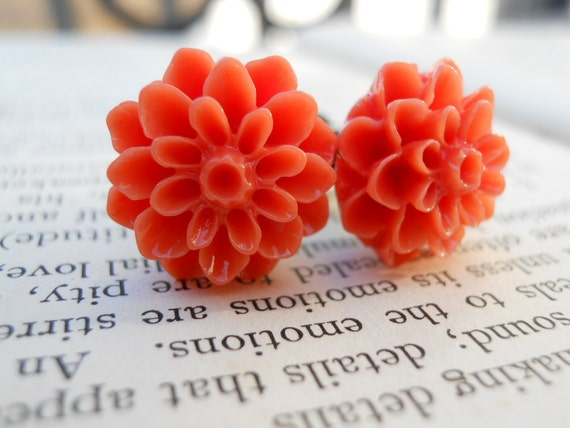 Gauges-Flower Plugs-Pretty Blossoms in Orange-4g