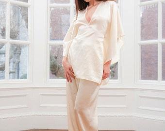 Mistress Kimono Collection - Silk Pyjama Trousers, gift for her, Valentine, holiday, lingerie, underwear, sleep