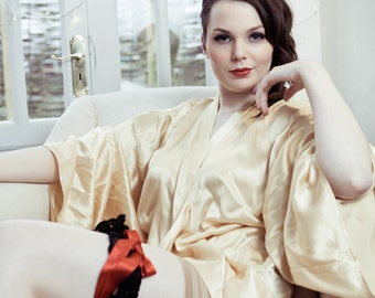 Mistress Kimono Collection - Silk Kimono Wrap, wedding, bride, anniversary, Valentine, gift for her, holiday