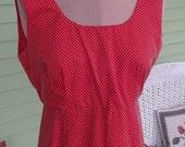 Red Swiss dot Maxi Dress,  size - Medium