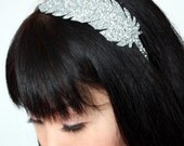 SALE - Glitter Feather Headband, Silver and Other Colours Available - Christmas In July CIJ
