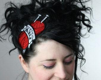 Tattoo Inspired Headband Knit in Red