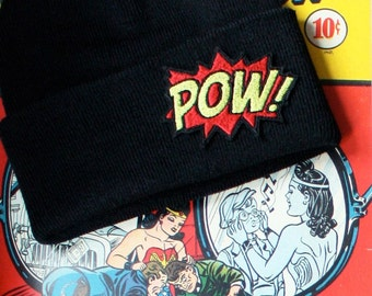 Mans Beanie, POW, Knitted Cap, Various Colours