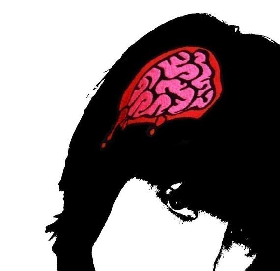 Zombie exposed brains headband accessory