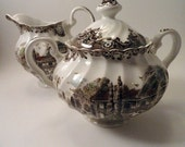 Heritage Hall Sugar Bowl and Creamer by Johnson Brothers