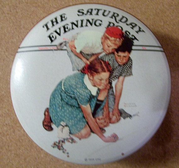 Norman Rockwell 1939 Marble Champion Collectors Tin