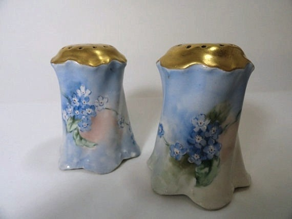 Rosenthal Versailles Bavaria Salt and Pepper Shakers Antique Hand Painted