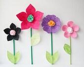 SALE. fabric wall flower. 3d wall decor. black. swirls
