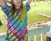 Rainbow Tiger Tie Dye T Shirt youth large