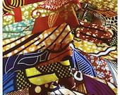 The Harriet Headband for JabuAfrica -- West Africa Block Print Fabrics