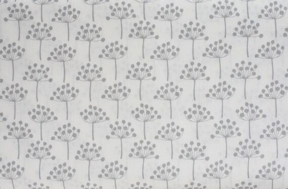 Lotta Jansdotter 1 Yard Echo Fabric Small Spring Buds in Grey