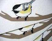 Chickadee notecards A2 size