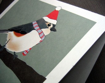 Titmouse Christmas Cards set of 4