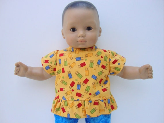 Bitty Baby Doll Clothes Popsicle Top and Capri Pants