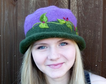 Felted Wide Brimmed Hat