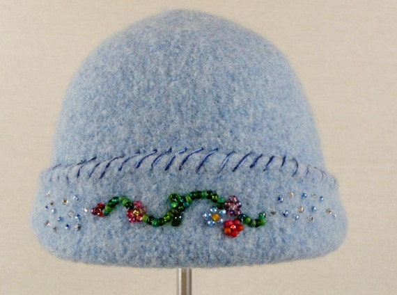 Felted Beaded Hat