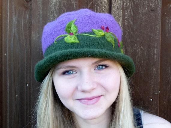 Felted Wide Brimmed Hat