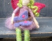 READY to ship, Lila the Fairy Friend with Butterfly - Needle felted - Waldorf inspired Original design by Borbala Arvai