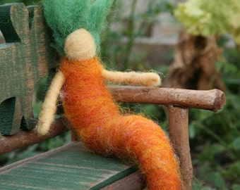 Needle Felted Lady Carrot, Original design by Borbala Arvai