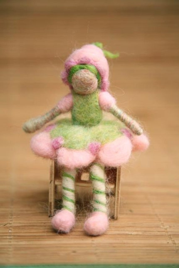 Needle Felted Lime Chiffon - Original design by Borbala Arvai, Made to order