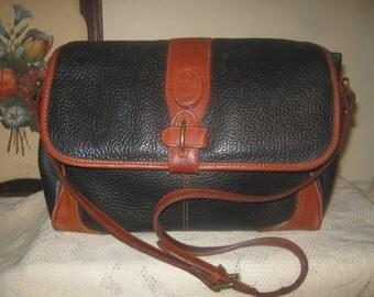 Vintage Genuine Leather Liz Claiborne Shoulderbag Purse Retro Rustic Handbag