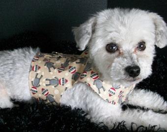 Sock Monkey Harness  Dog Harness Vest Custom Made