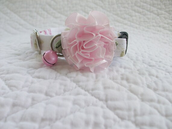 Shabby  Cat  Collar Breakaway Collar Custom Made Wedding