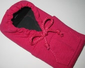 Handmade Fuchsia Colored iPhone Hoodie Case