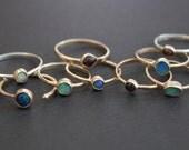 unmined spanish almandine garnet treasure ring