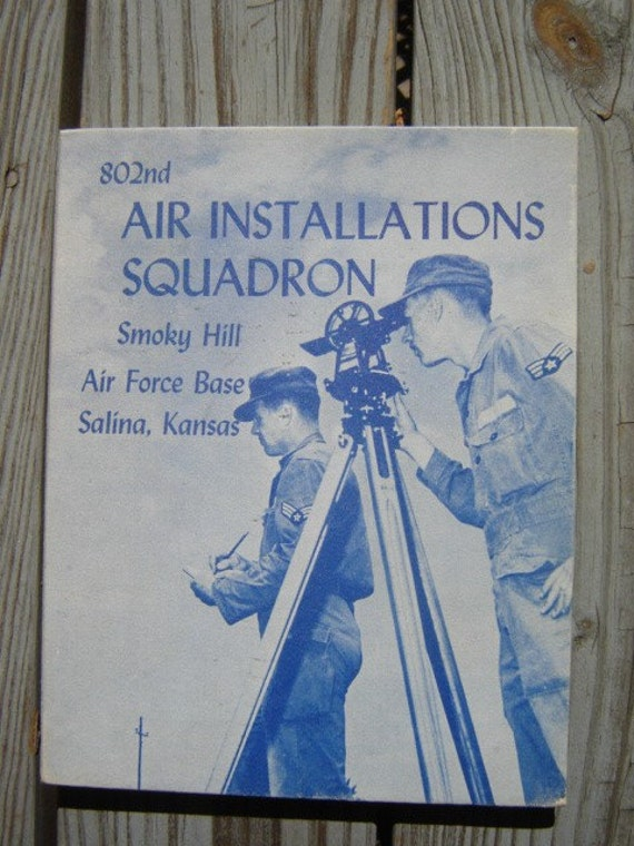 1954 Military Smoky Hill AFB Salina Kansas  802nd AIR