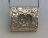 My Heart Flips 4 You...flipping double sided Silver necklace-includes gift wrap, ready to ship