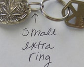 Optional small  keyring  attachment ready to ship