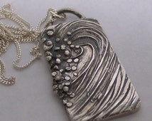 Silver Wave Necklace - Foam Ball - Made to Order