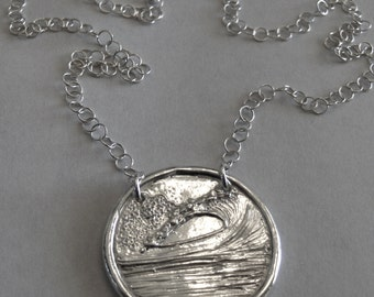 Cloudbreak at Tavarua Wave- Womens Version- Silver Necklace-Made to Order