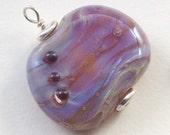 Purple Pressed Lampwork Glass Pendant - Kelley Allen SRA