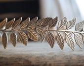 ATHENA Grecian Leaf Headpiece in Antique Brass