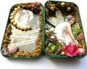 Fairy Altered Art Tin, Mixed Media, Original Collage Art, Original OOAK