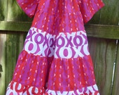 Hearts, Hugs and Kisses Peasant Dress size 4-5