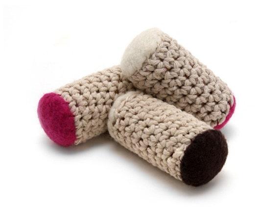 Bamboleos - Re-purposed Wine Cork Cat Toys with Organic Catnip (Raspberry Chocotini Three-pack)