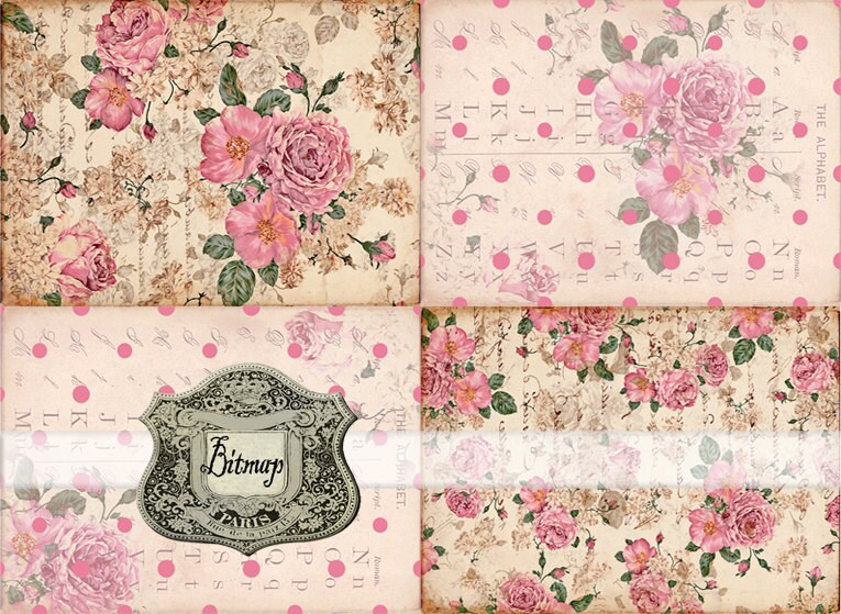 Roses Floral Background Backgrounds Shabby Roses