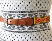 Vintage Native American Seed Bead Belt
