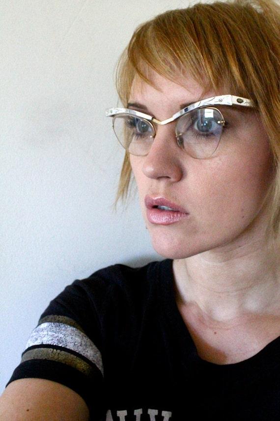 50's Vintage BL 12K Gold Filled Cat Eye Glasses
