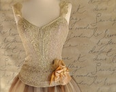 Sublime Ballerina bodice in taupe, mint or rose. An elegant and feminine fall piece. ONLY ONE REMAINING