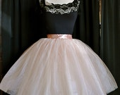 Chic Blush Pink Tutu.  Custom length with extra layers of tulle. Reserved for Mitzy.