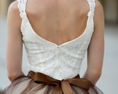Sublime Ballerina bodice in ivory. An elegant and feminine piece. Ready to ship in size large.