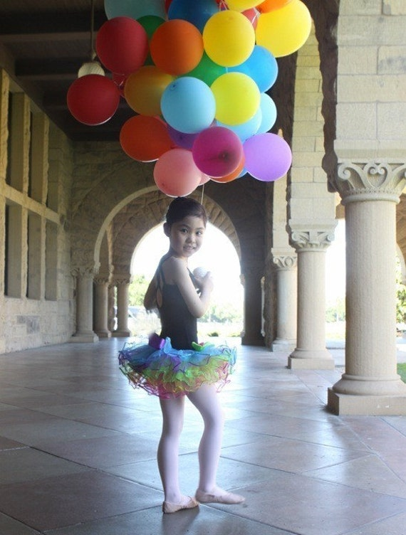 Rainbow bright ballerina girls tutu. Bows and sequins with matching headband. Ready to ship.