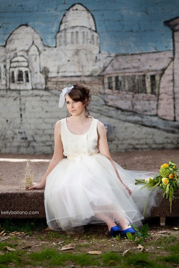 Ballerina Wedding Tulle Skirt--- women's lined tutu.