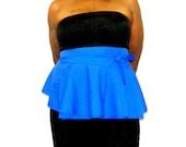 Plus Size 14 - 20 Royal Blue Peplum Belt