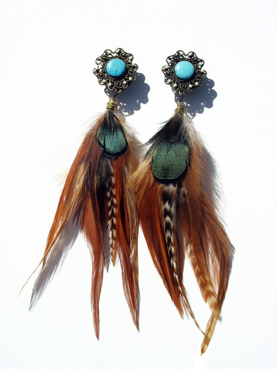 Custom listing for cranberry k by magiccircleclothing on etsy for Native american feather jewelry