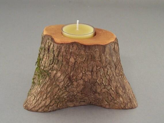 Rustic Mountain Laurel Tea Light Candle Holder